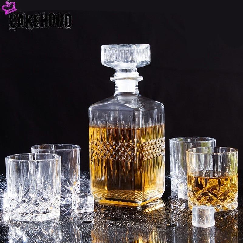 Decantador y copas de Vodka ruso para el hogar CAKEHOUD, copa de vino, copa de cristal, Grupo decantador, copa de cóctel