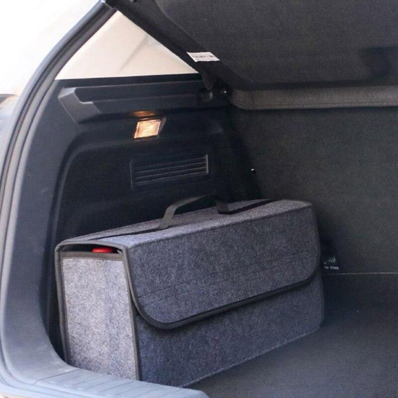 Organizador de maletero de coche bolsa de almacenamiento de coche de carga de contenedor de caja de fuego guardar orden soporte Multi-bolsillo estilo de coche 50*17*24cm
