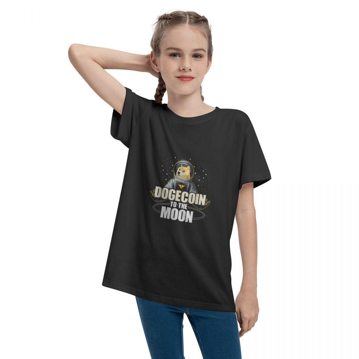 Dogecoin To The Moon Doge HODL Rocket Crypto Meme Teenage T-shirt Unisex Comfortable Fashion Summer Tops 100% Cotton