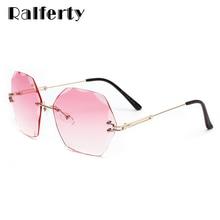 Ralferty-lunettes de soleil femmes   Lunettes de soleil femmes, surdimensionnées, Anti UV, dégradé rose, de luxe, en cristal, lunette, lunettes de soleil W2338, 2020