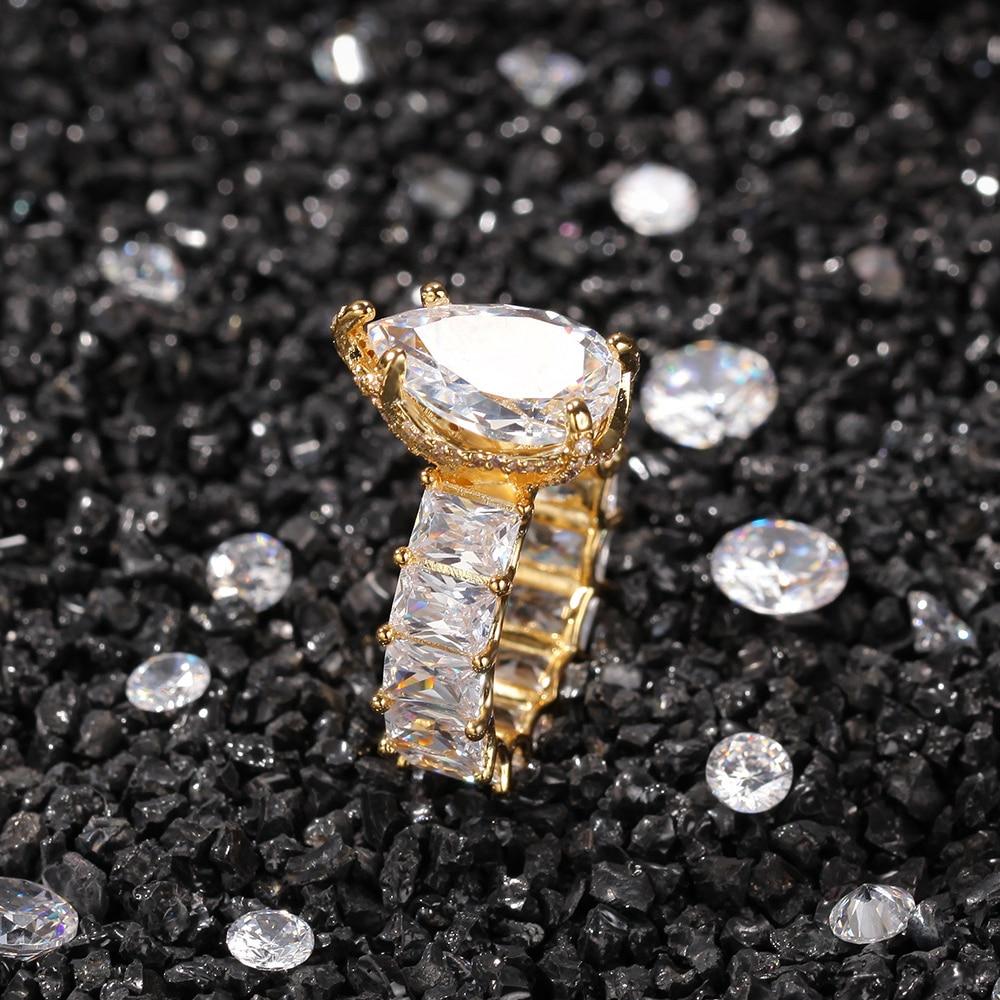 Обручальные кольца на всю вечность, большие капли воды для мужчин и женщин, золото, серебро, цвет розовый, CZ, прочное ювелирное изделие, подар...