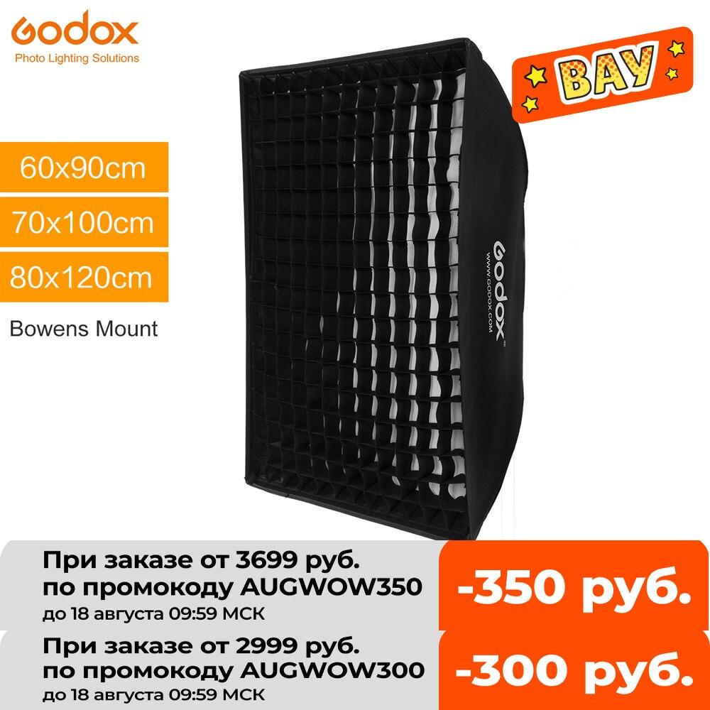 Godox 60 x 90cm 70 x 100cm 80 x 120cm Honeycomb Grid Softbox soft box with Bowens Mount for Studio Strobe Flash Light