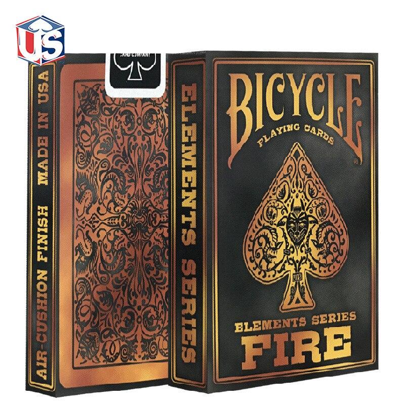 1 convés Bicicleta Jogando Cartas Regulares Baralho Bicycle Rider Voltar Cartão Cartões de Fogo Truque de Mágica Adereços Magia