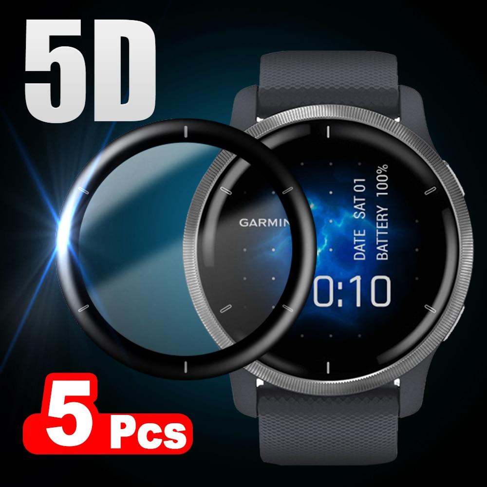 5D Soft Fibre Glass Protective Film For Garmin Venu 2 / Venu 2S Full Curved Cover Screen Protector f
