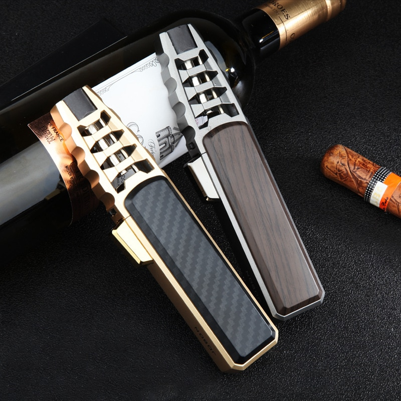 VIP link New Pen Spray Gun Jet Butane Pipe Lighter Metal Gas Kitchen Welding Torch Turbo Windproof Cigar Lighter Gadgets For Men