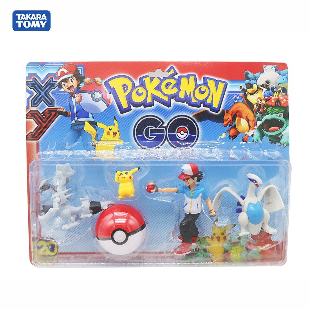 5 unids/set evolución Pokemon modelo Ash Ketchum Lugia Kyurem blanco Pokeball mafioso para figuras de acción de regalo de cumpleaños Juguetes