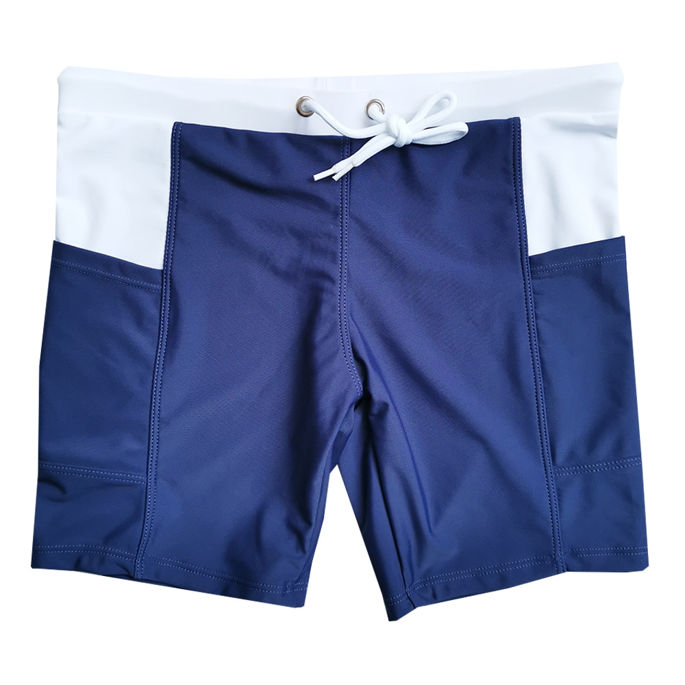 2020 Trunk stroje kąpielowe spodnie do pływania Solid Stretch Outdoors Casual kąpielowe-spodnie marki Beach profesjonalne kąpielówki Man Swimsuit
