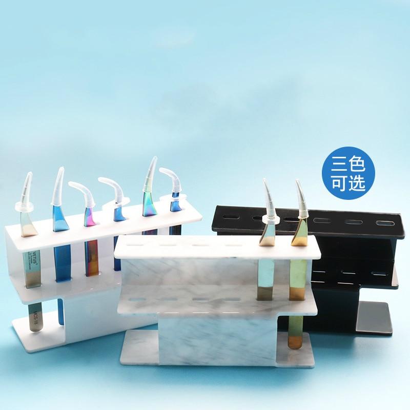 6 Slots Wimpern Pinzette Sortieren Lagerung Stehen Acryl Display Regal 3 Farben Optional Make-Up Liefert