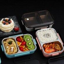 Boîte à Lunch à micro-ondes pour enfants   Boîte à déjeuner à Bento en acier inoxydable 304 contenant des aliments à lépreuve des fuites, boîte Portable de bureau pour enfants