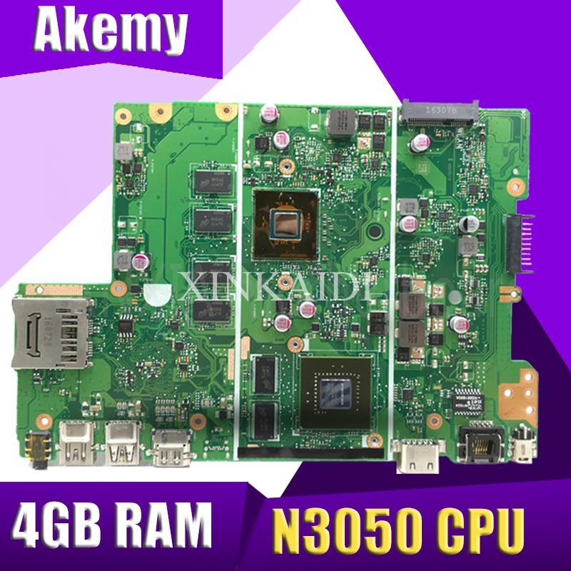X441SC اللوحة الأم N15V-GL1-KA-A2 N3050 CPU 4GB RAM اللوحة الرئيسية REV2.0 ل ASUS X441S X441SC اللوحة الأم للكمبيوتر المحمول 100% اختبارها