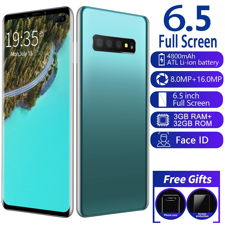 Global Version Smartphone S10+ 3GB RAM 32GB ROM 6.5Inch Full Screen 4800mAh Built-in  Android 9.0 Celular Cellphone Mobilephone