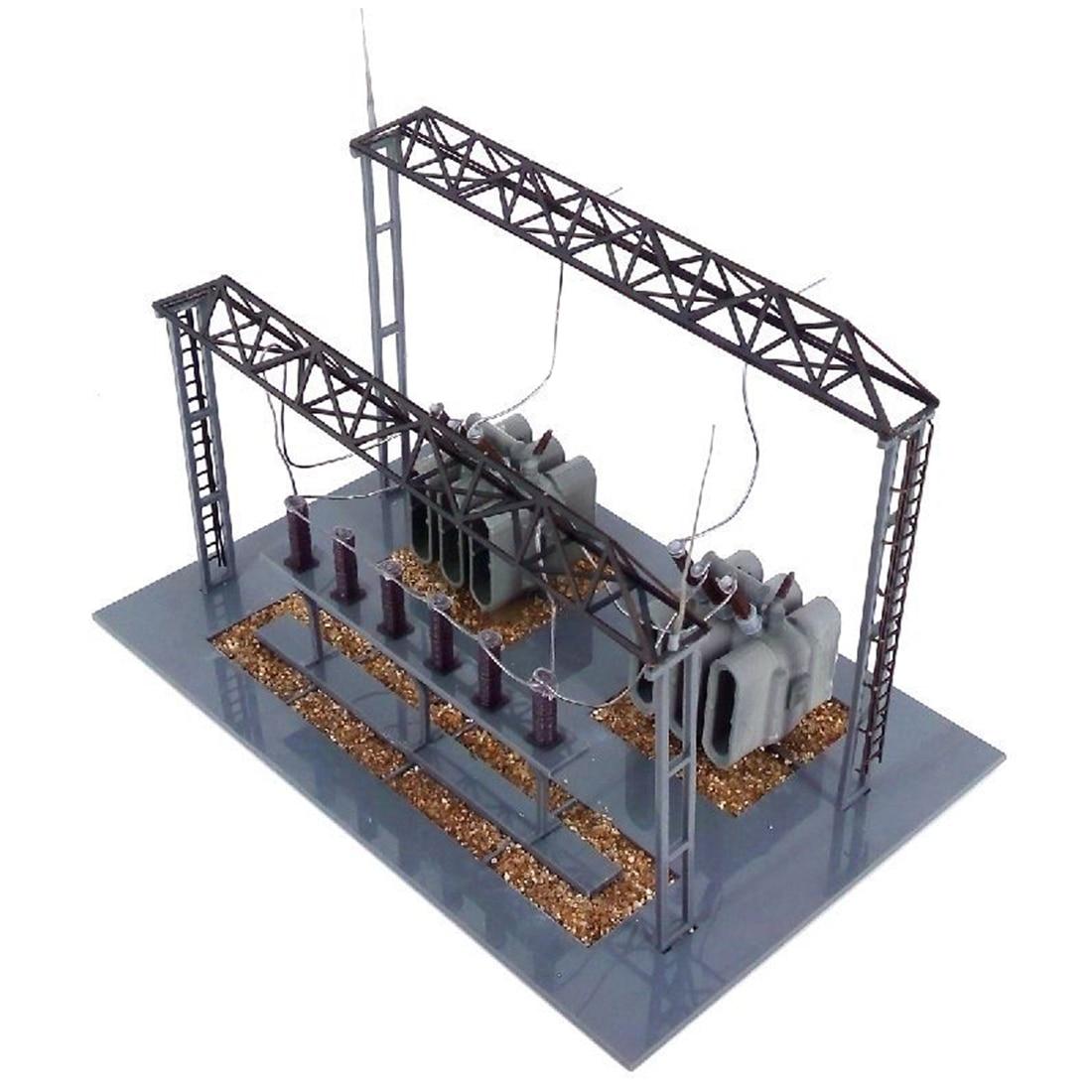 NFSTRIKE 1 87 HO Skala Zug Modell Umspannwerk Modell Für Sand Tabelle Ho Skala Modell Zug Zubehör