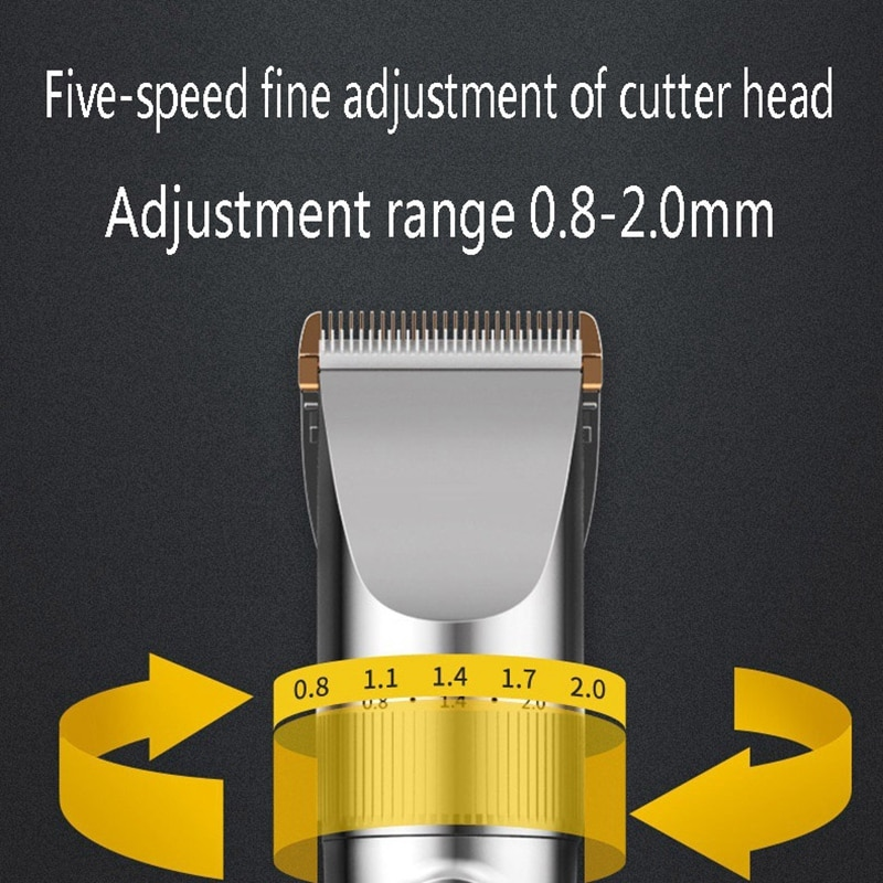 Hair Clippers for Men Cordless Hair Trimmer Rechargeable Mens Haircut Grooming Set with LED Display and 6 Guide Combs enlarge