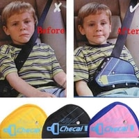 triangle child safety belt adjuster padding auto safety baby shoulder harness strap cover for kids neck protect positioner l1