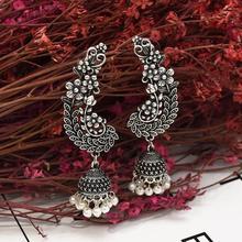 2019 Vintage Ethnic Womens Round Jhumki Earrings Bohemia Boho Bell Tassel Drop Earrings Indian Tibetan Jewelry Tribe