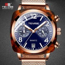 TEVISE Mens Top Brand Luxury Fashion Men Watch Stainless Steel Strap Waterproof Automatic Mechanical