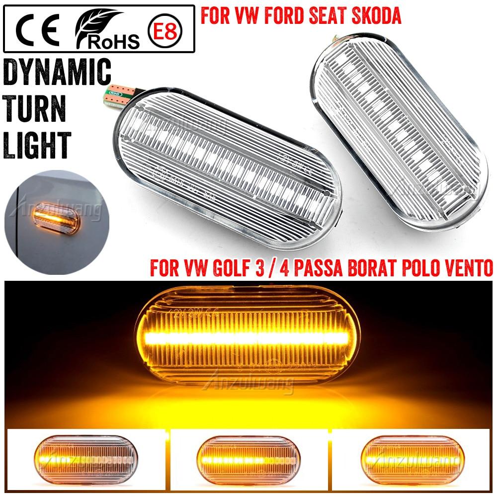 Dinámica fluye LED indicador lateral de señal de vuelta de luz para...
