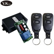 Interruptor de luz de Control remoto inalámbrico 10A contacto de relé 220V 1 módulo receptor de Canal + TRANSMISOR 10-100 315 hogar Inteligente de 433mhz