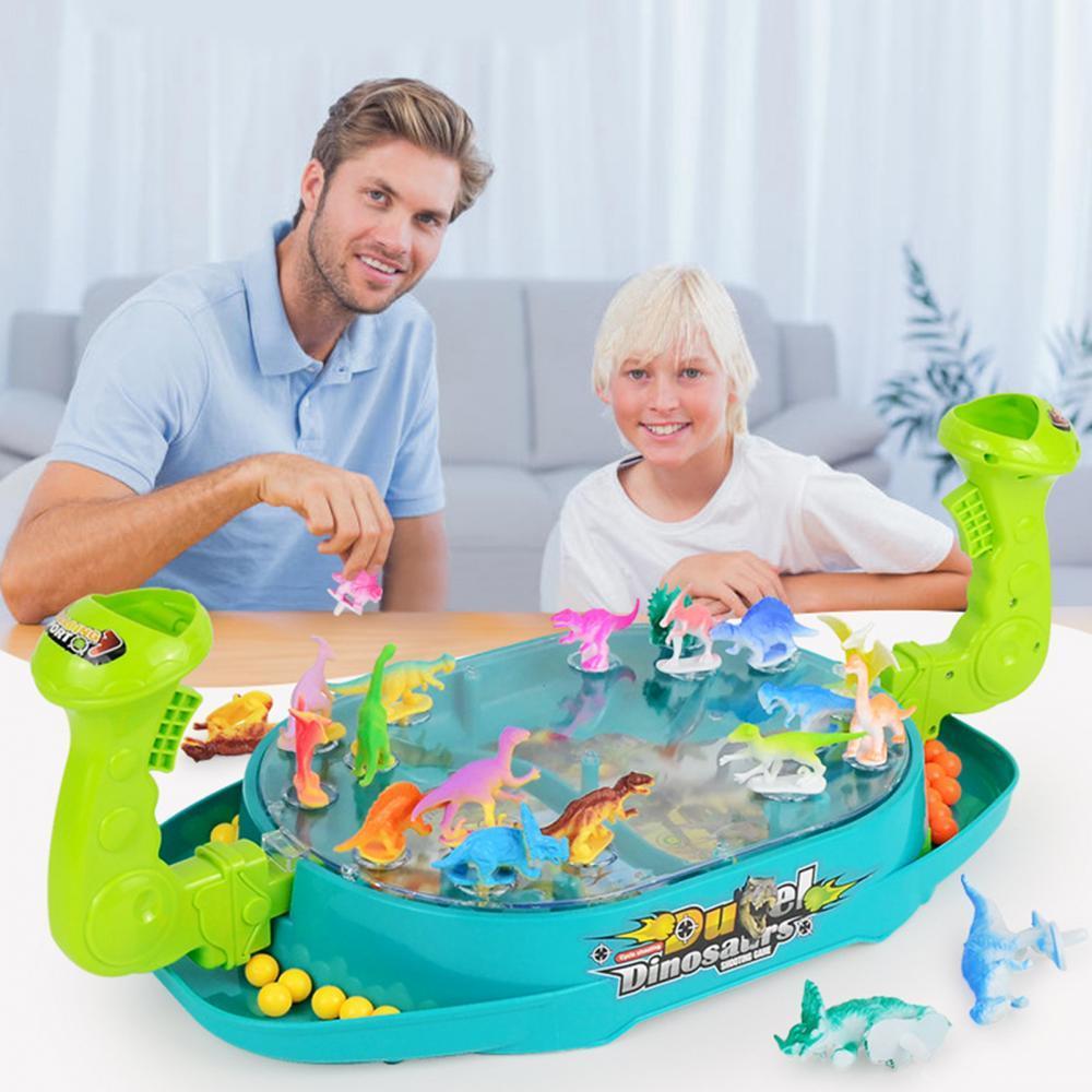 Puzzle Catapults Beads Desktop Parent-child Interactive Snowman Dinosaur Game Toy developmental toys