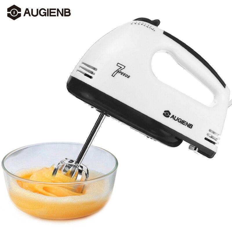 AUGIENB Mini 7 سرعة العجين اليد الغذاء خلاط متعدد الوظائف المحمولة منتج أغذية خلاط مطبخ كهربائي التلقائي أداة