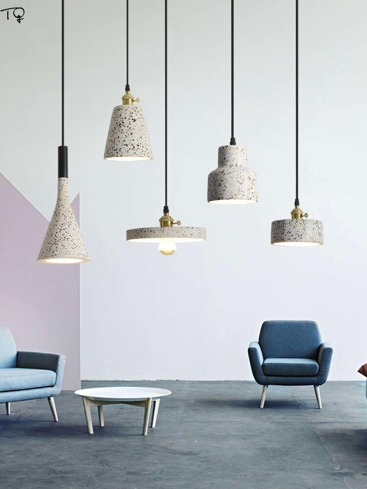 مصمم الحديثة الصناعية الاسمنت مصباح معلق Led ضوء مطبخ تركيبات لوفت ديكور صالون غرفة نوم المعيشة/غرفة الطعام الحمام