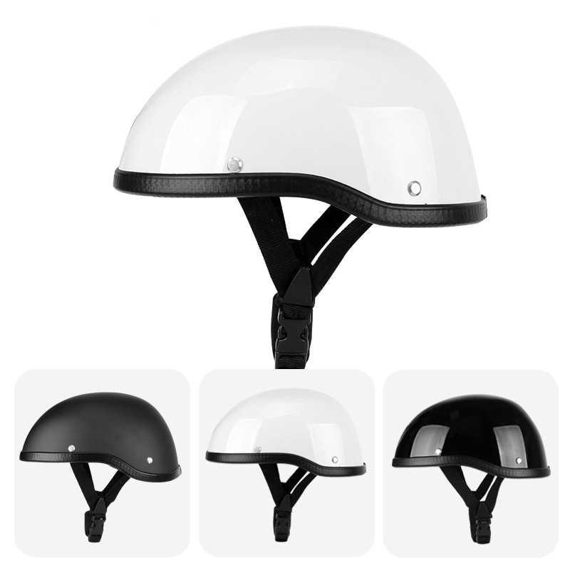 Motorcycle Helmets Retro Half Face Vintage Moto Headgear Open Face Casco Crash Helmet Scooter Chopper enlarge
