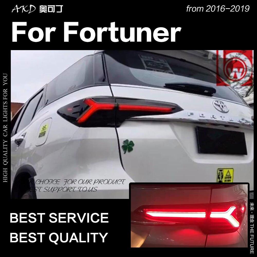 ضوء خلفي لسيارة Toyota Fortuner 2016-2019 ، مصباح أمامي LED ديناميكي DRL ، ملحقات السيارة ، جديد