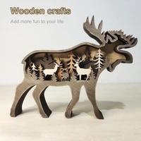 decorative compact christmas elk decoration ornament figurine for xmas