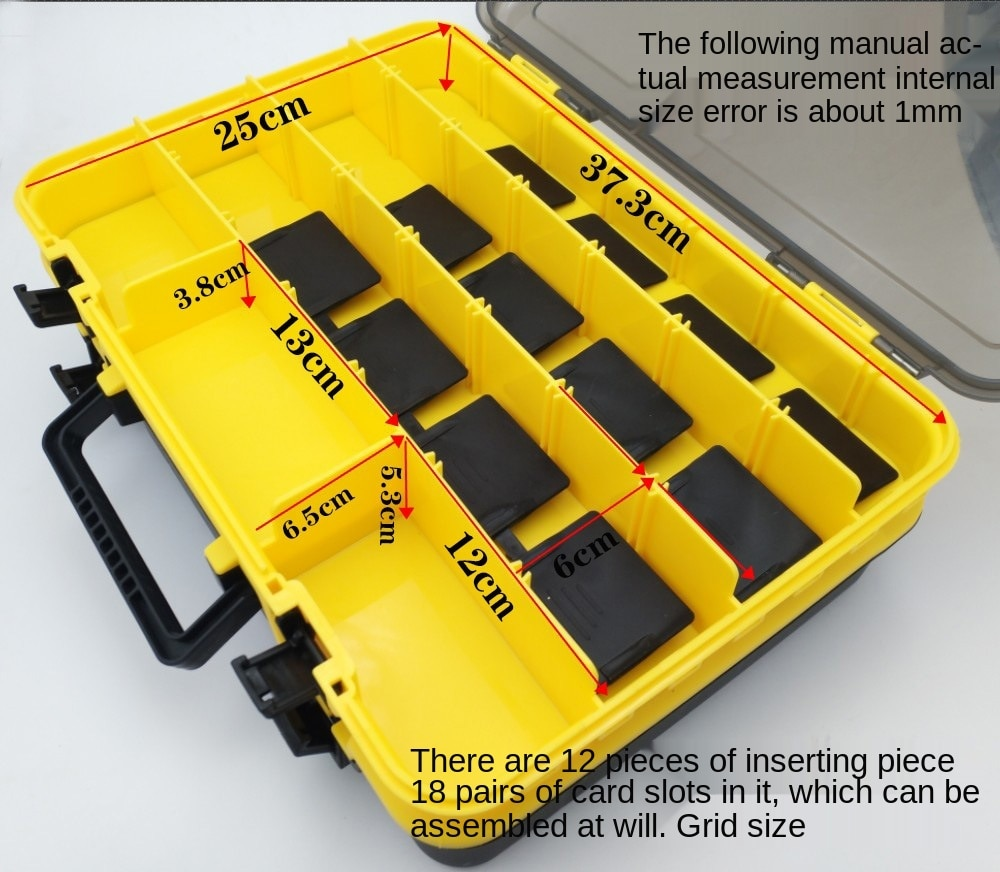 The box double road and multi-functional sea fishing bait box suitcase accessories receive a case fishing gear enlarge