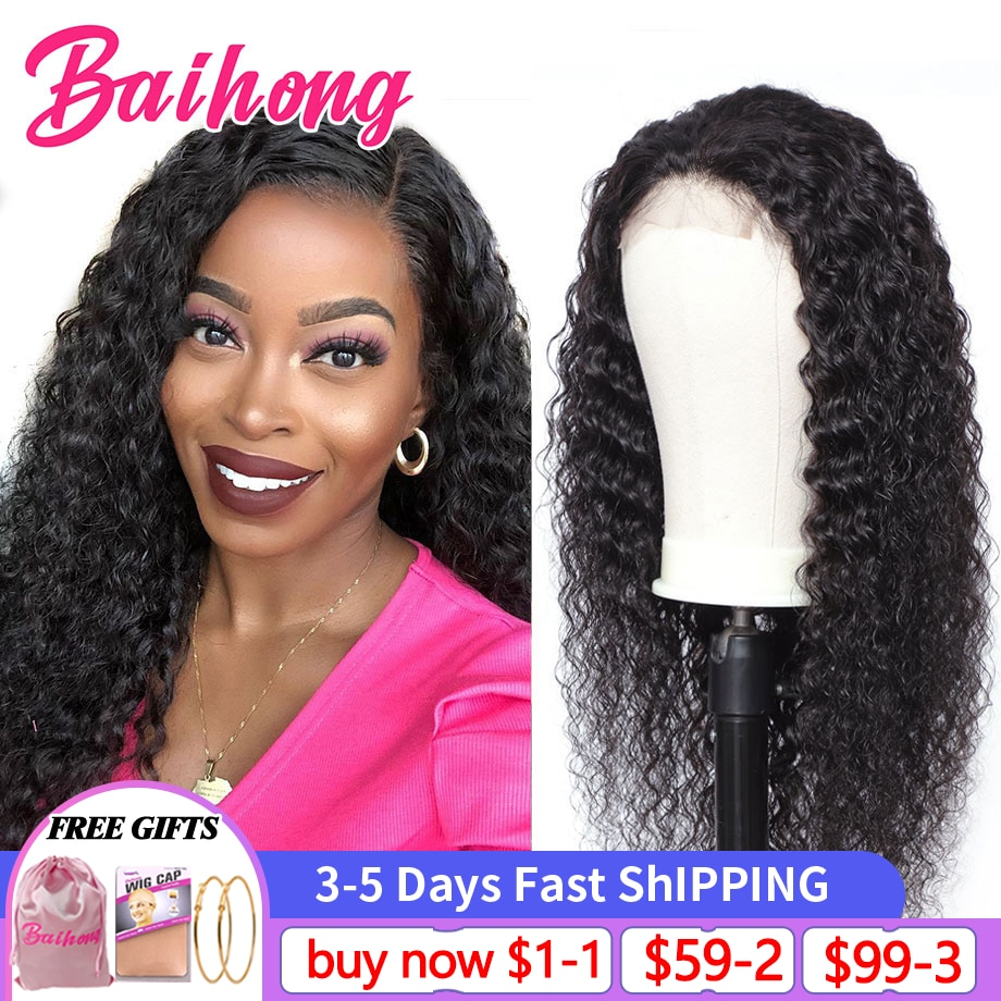 Deep Wave 30 Inch Lace Front Smooth Human Hair Wig Brazilian Natural 13x4 Lace Front Closure Human Hair Wigs For Women BAIHONG
