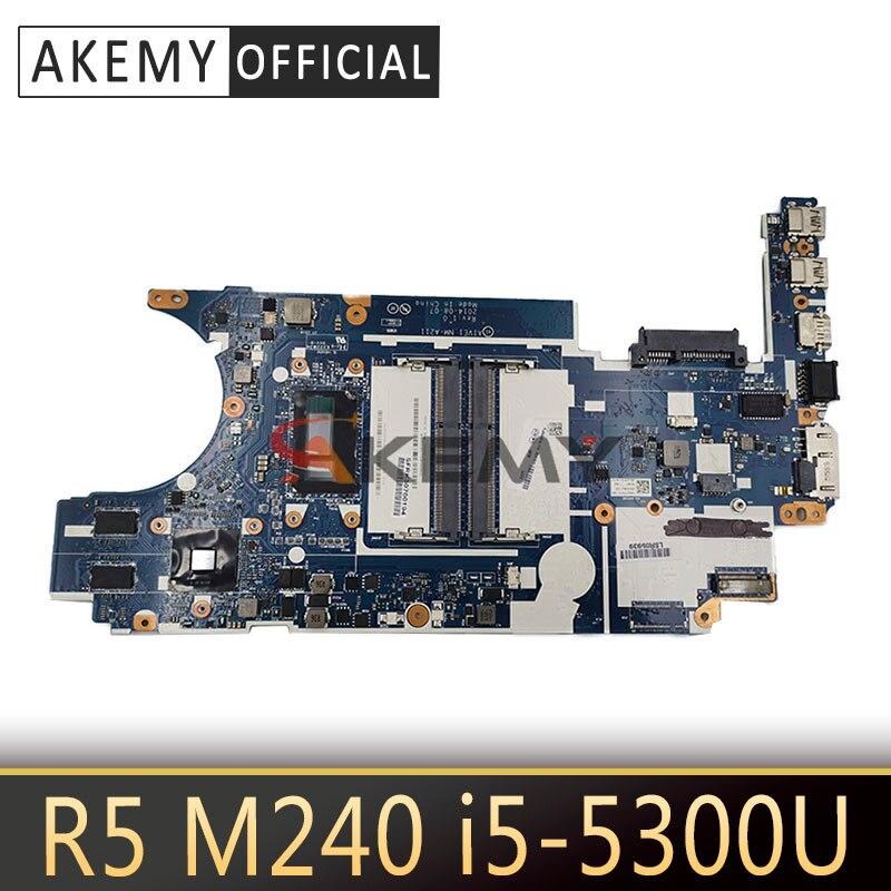 Akemy For Lenovo Thinkpad E450 E450C CE450 NM-A211 Laotop Mainboard NM-A211 Motherboard with R5 M240 GPU i5-5300U CPU