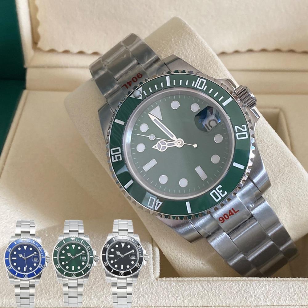 AAA Quality Ceramic Bezel Mens watches Automatic Mechanical 2813 Movement Watch Luminous Waterproof Sports Self-wind Wristwatchs