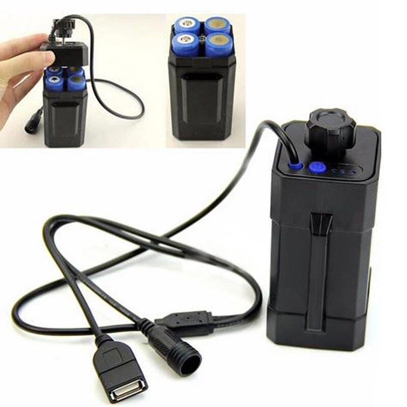 4x18650 batterie boîte de rangement boîtier support étanche batterie boîtier 18650 batterie pack 5VUSB/8.4VDC double interface 18650 batterie boîte