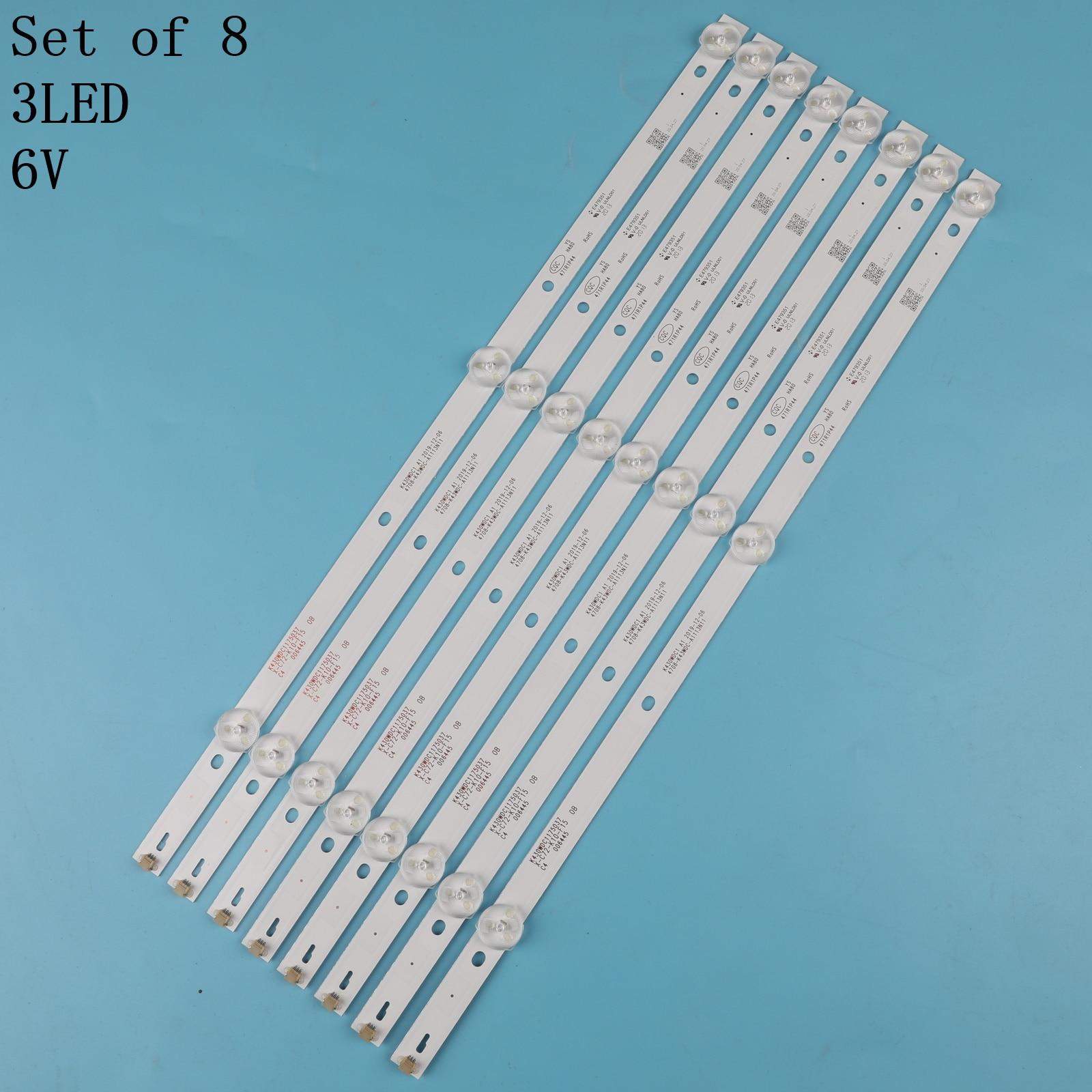 8pcs-tv-kit-lampada-di-retroilluminazione-a-led-strisce-per-aoc-le43m3570-60-le43m3579-barre-led-fasce-per-4708-k43wdc-a1113n11-governanti-k430wdc1-a1