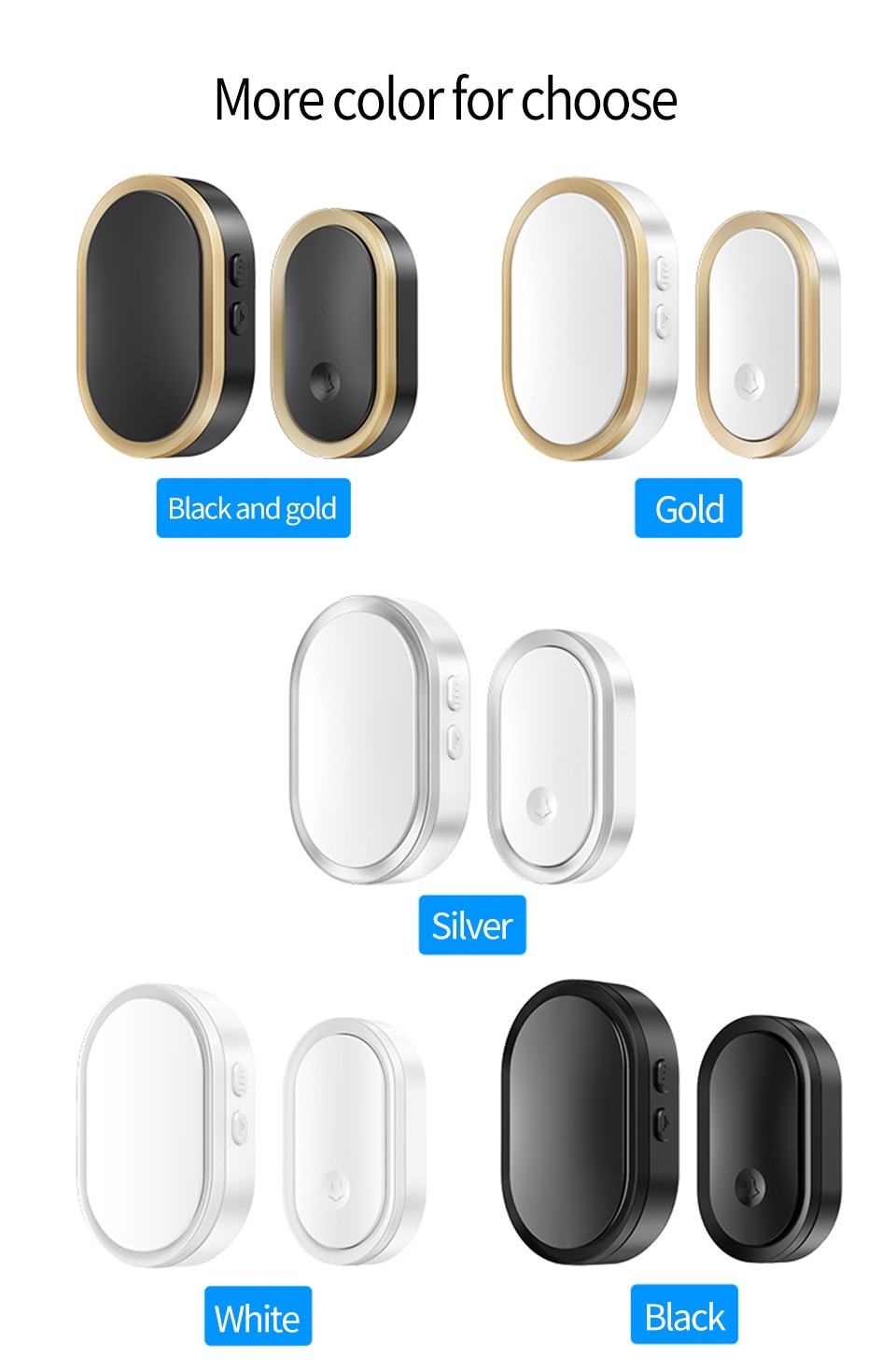 Welcome Wireless Doorbell Waterproof 300M Remote 3 Button 1  Receiver  Smart LED Light Home Door Ring Bell Electronic enlarge