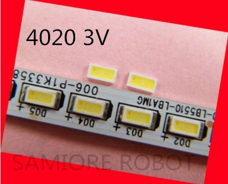 FÜR AOT 200 stücke Led-hintergrundbeleuchtung 0,5 W 3V 4020 48LM Kühlen weiß Lcd-hintergrundbeleuchtung für TV TV Anwendung 4020C-W3C4 EMC SAMIORE ROBOTER