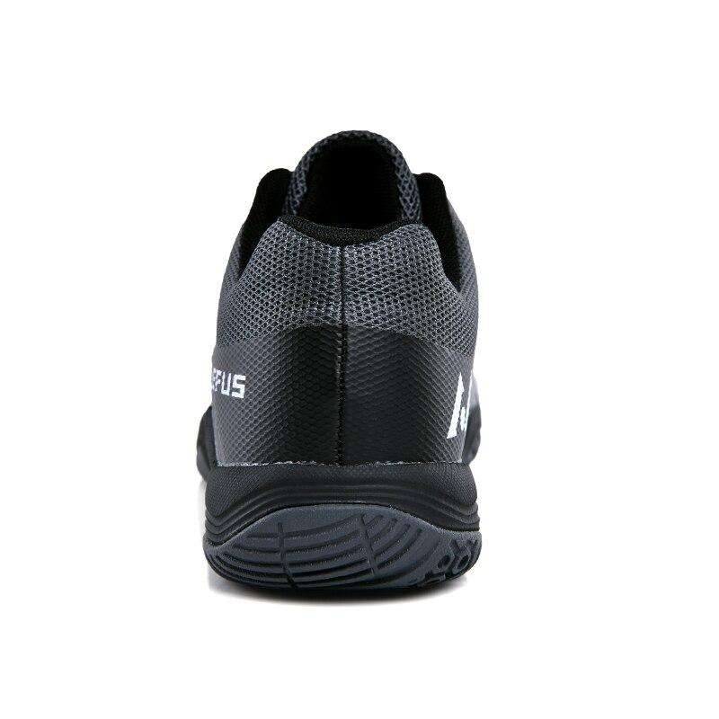 Новинка 2020, брендовая мужская обувь для бадминтона, легкая тренировочная обувь для телячьего мышечного тенниса, черные, оранжевые мужские Нескользящие кроссовки для бадминтона-1