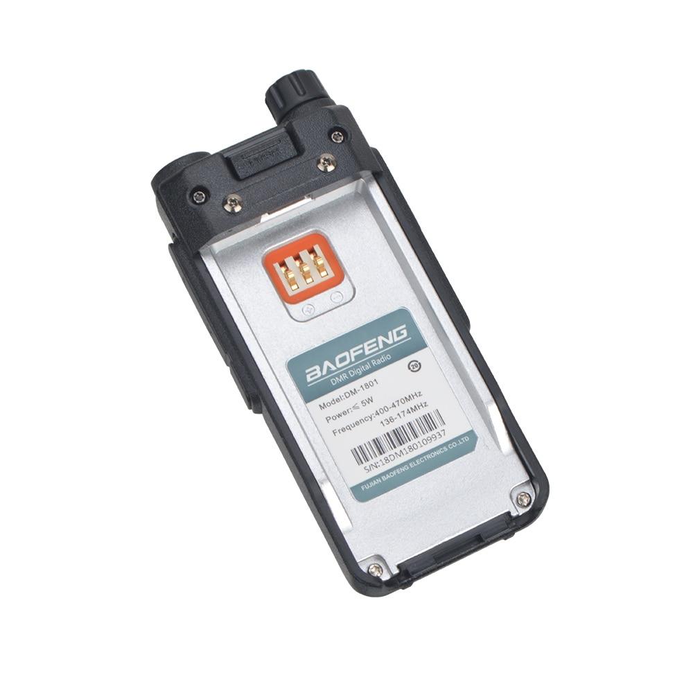 Baofeng DM-1801 Walkie Talkie DMR Digital Analog Comptabile Dual band VHF/UHF Portable Two Way Radio with Earphone enlarge