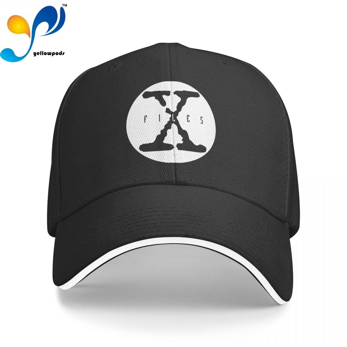 Бейсболка X файлы X, Кепка-бейсболка для мужчин, мужские кепки с Бейсбольным клапаном, кепки с логотипом