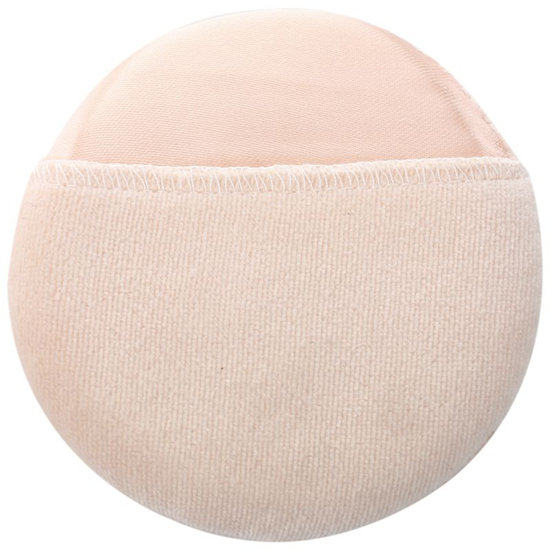 Puff de polvo Facial de Maquillaje Facial redondo blanco Beige cosmético para...