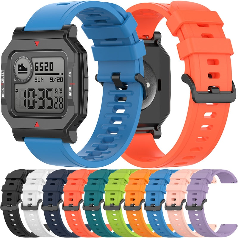 Soft Silicone Watch Strap For Xiaomi Huami Amazfit Neo Smart Watch Replacement Wristband with Tool Belt Accessories Sport Band sport silicone watch band for suunto core smart watch replacement brand new high quality wristband watch belt smart accessories
