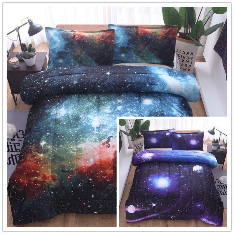 طقم أغطية سرير مع وسادة ، طقم من ثلاث قطع ، لحاف بتصميم سماء مرصعة بالنجوم ، ماندالا ، فيل ، بوهيمي