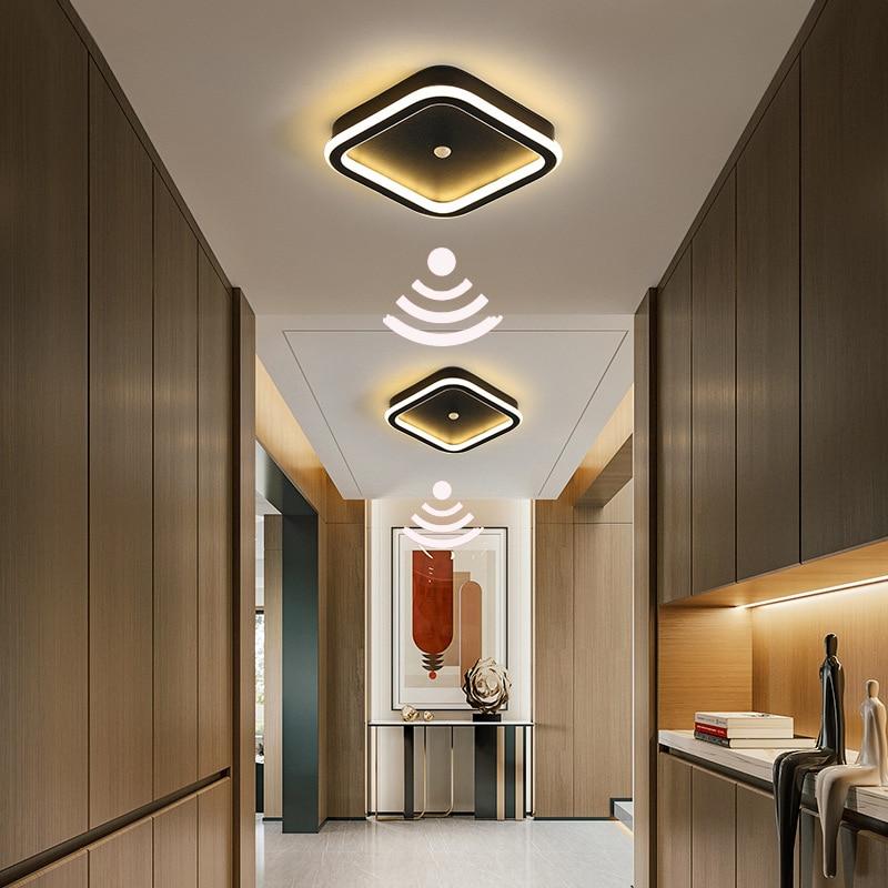 Светодиодный датчик движения PIR Сенсор потолочный светильник 9 Вт 14 Вт 16 Вт AC110-220 человеческого тела Индукционная потолочная лампа для прихо...