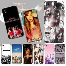 CUTEWANAN KPOP Girls Generation DIY حافظة هاتف مُزينة بطباعة غطاء قذيفة ل فيفو Y91c Y17 Y51 Y67 Y55 Y93 Y81S Y19 Y7S حالة