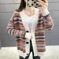knitted cardigan sweater coats womens sweaters autumn loose oversized cardigan sweater