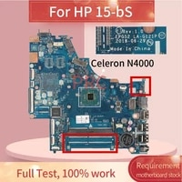 for hp 15 bs celeron n4000 notebook mainboard la g121p sr3s1 ddr4 laptop motherboard