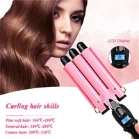 3 barrels hair curling iron automatic perm splint ceramic hair curler hair waver curlers rollers styling tools hair styler wand