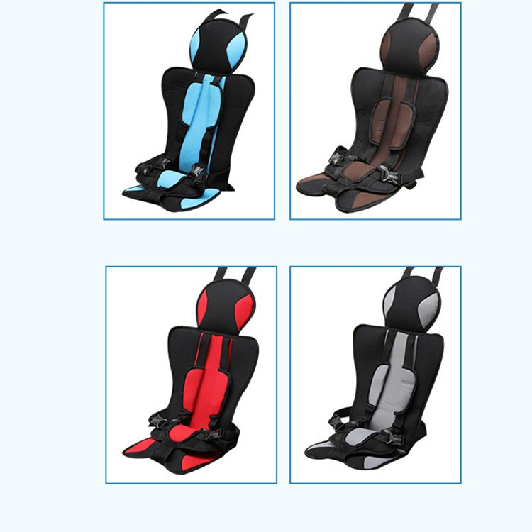 Children's Safety Seat Car Anti-Slip Fixed Cushion Portable Baby Car Safety Seat One-Piece Hair