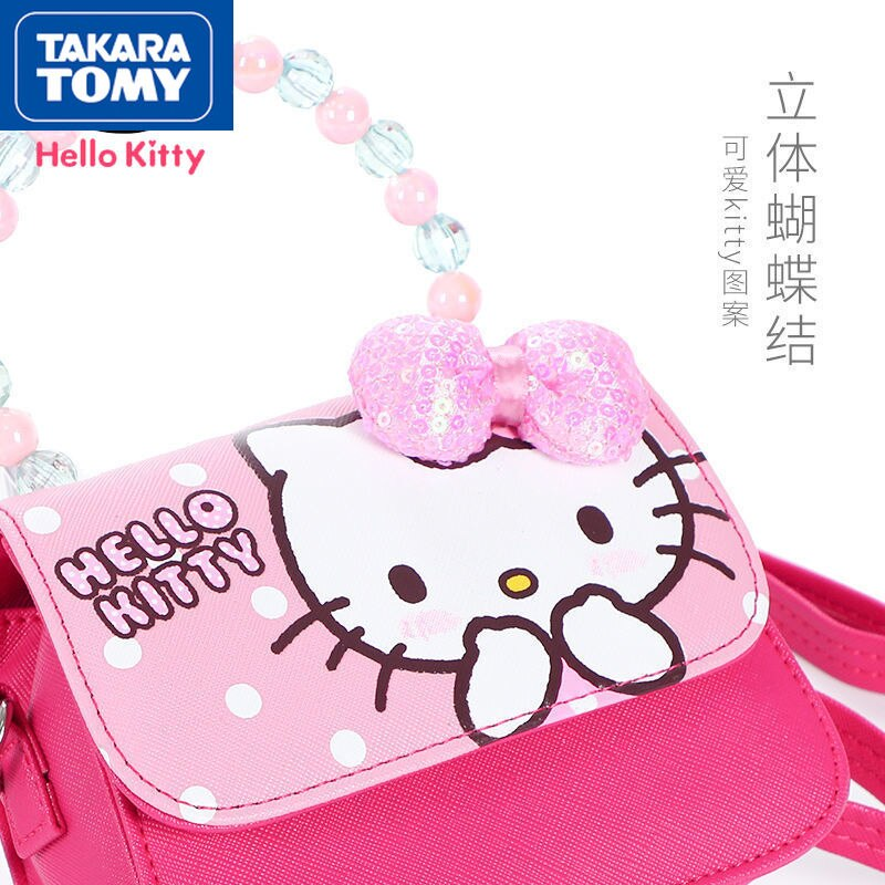 printio сумка hello kitty Сумка-мессенджер TAKARA TOMY из мультфильма Hello Kitty, новинка 2021, Симпатичная повседневная универсальная Детская сумка