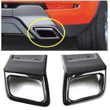 ROLLSROVER-garniture de Tube déchappement pour pare-choc arrière, noir brillant, accessoire pour Range Rover Evoque 2012-2018 LH RH OEM LR027871 LR027872
